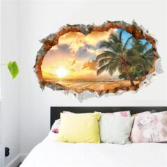Sunset Sea Beach Wall Decal