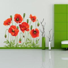 Red Poppy Removable Wall Decal
