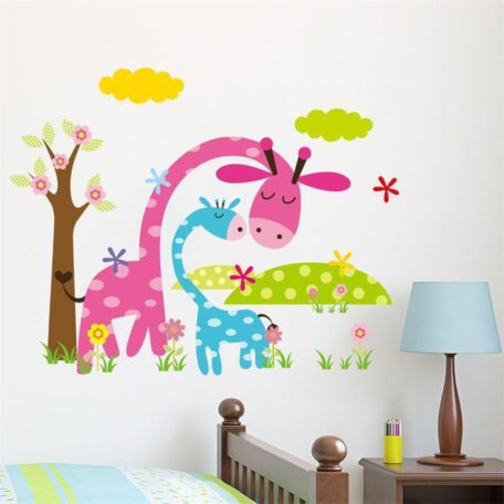 candy-color-jungel-wild-animals-cartoon-wall-stickers-for-kids-room-home-decoration-adesivo-de-parede-jpg_640x640