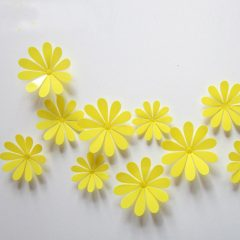 3D Flower Set Yellow