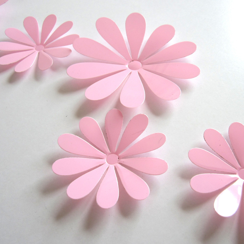 3d Flower Set Pink Wall Stickers Co