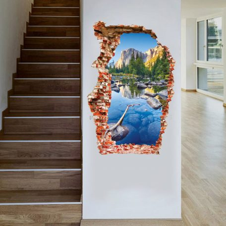 fashion-nature-3d-sticker-wall-sticker-60-90cm-brook-green-hill-mural-home-decor-wall-decals-1